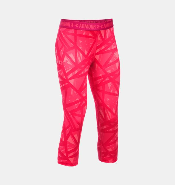 3d8fb09ec6 Girls  UA HeatGear® Armour Printed Capris