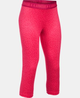 Girls' UA HeatGear® Armour Printed Capri  6 Colors $39.99