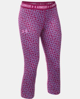 Girls' UA HeatGear® Armour Printed Capris  2 Colors $34.99