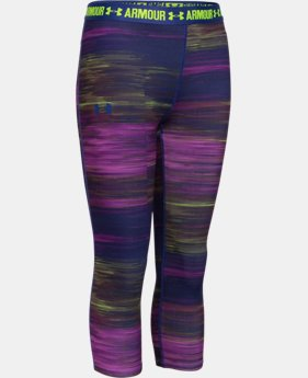 Girls' UA HeatGear® Armour Printed Capri  4 Colors $20.99 to $26.99