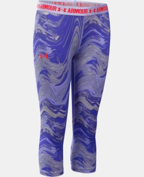 Girls' UA HeatGear® Armour Printed Capri  1 Color $29.99