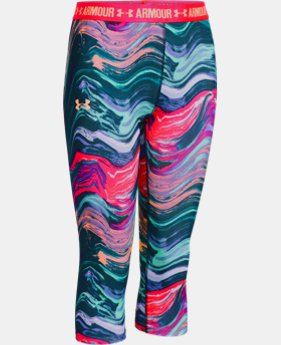 Girls' UA HeatGear® Armour Printed Capris  1 Color $34.99