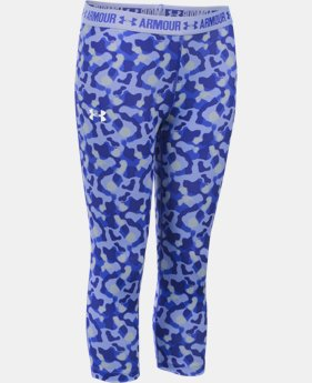 Girls' UA HeatGear® Armour Printed Capri   $20.99 to $26.99