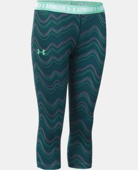 Girls' UA HeatGear® Armour Printed Capri LIMITED TIME: FREE SHIPPING  $39.99