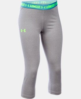 Girls' UA HeatGear® Armour Solid Capris  8 Colors $17.24 to $22.99