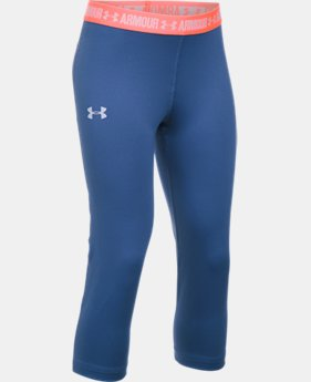 Girls' UA HeatGear® Armour Solid Capris  4 Colors $17.24