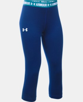 Girls' UA HeatGear® Armour Solid Capri  2 Colors $20.99 to $26.99
