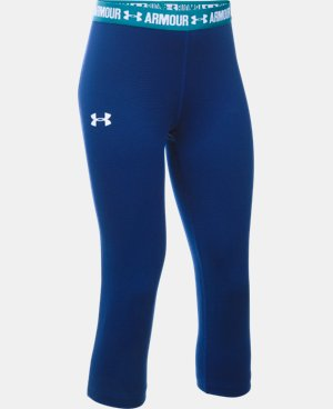 Girls' UA HeatGear® Armour Solid Capri  4 Colors $34.99