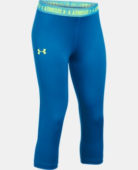 Girls' UA HeatGear® Armour Solid Capris  4 Colors $17.24 to $22.99