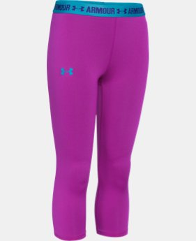 Girls' UA HeatGear® Armour Solid Capri LIMITED TIME: FREE U.S. SHIPPING 3 Colors $13.49 to $22.99