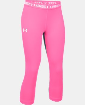 Girls' UA HeatGear® Armour Solid Capri LIMITED TIME: FREE U.S. SHIPPING 2 Colors $13.49 to $22.99
