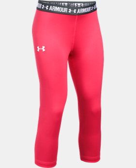 Girls' UA HeatGear® Armour Solid Capris  1 Color $17.99 to $22.99