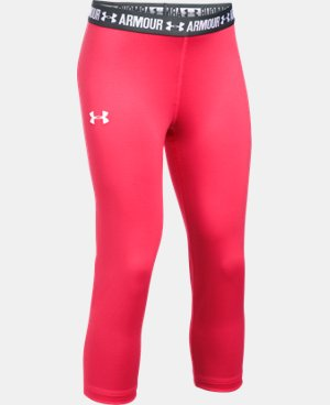 Girls' UA HeatGear® Armour Solid Capri LIMITED TIME: FREE U.S. SHIPPING 1 Color $29.99