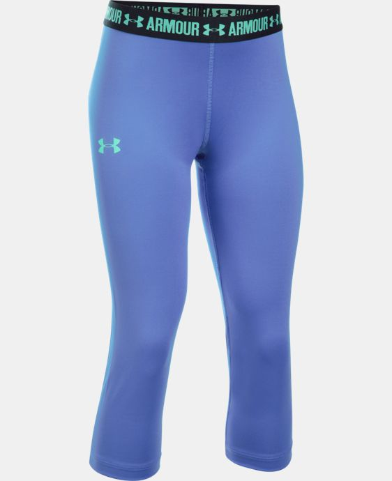 Girls' UA HeatGear® Armour Solid Capri   $29.99