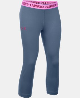 Girls' UA HeatGear® Armour Solid Capri