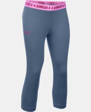 Girls' UA HeatGear® Armour Solid Capri  1 Color $22.99 to $26.99