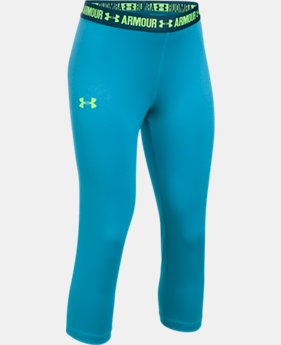 Girls' UA HeatGear® Armour Solid Capris   $29.99