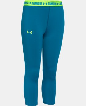 Girls' UA HeatGear® Armour Solid Capri LIMITED TIME: FREE U.S. SHIPPING 1 Color $13.49 to $22.99