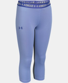Girls' UA HeatGear® Armour Solid Capri   $20.24