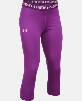 Girls' UA HeatGear® Armour Solid Capris  1 Color $17.24 to $22.99