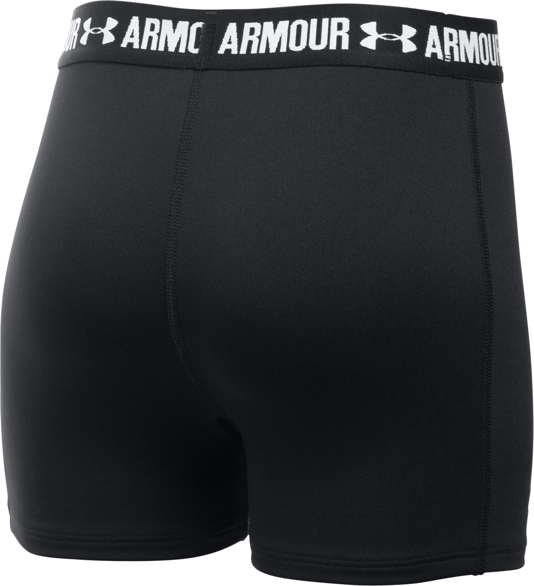 "Girls' UA HeatGear® Armour 3"" Shorty, Black ,"