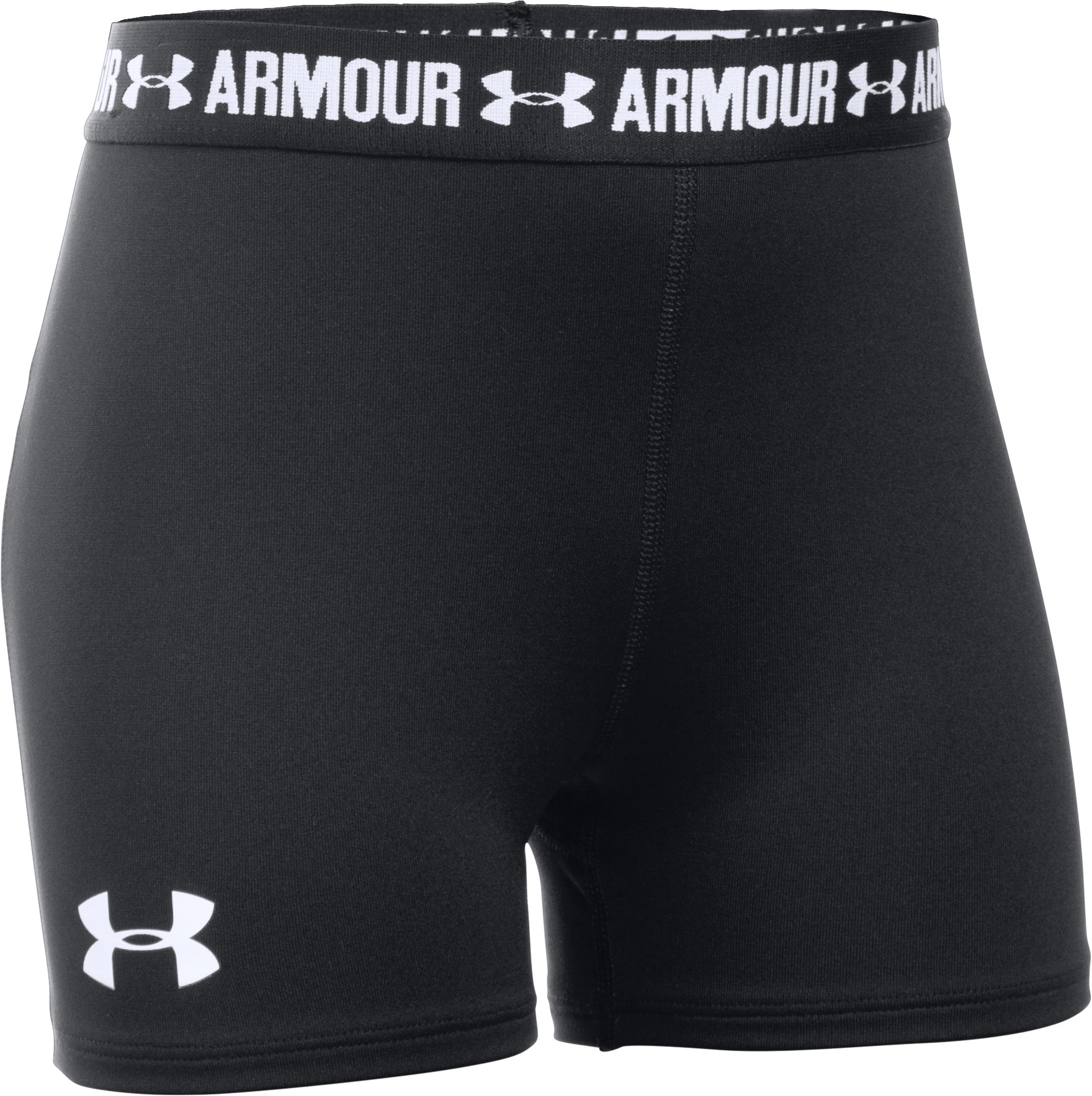 "Girls' UA HeatGear® Armour 3"" Shorty, Black , undefined"