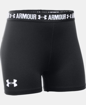 "Girls' UA HeatGear® Armour 3"" Shorty  4 Colors $14.99 to $19.99"