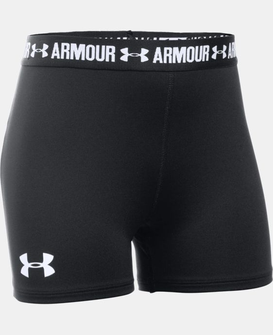 "Girls' UA HeatGear® Armour 3"" Shorty LIMITED TIME: FREE U.S. SHIPPING  $19.99"