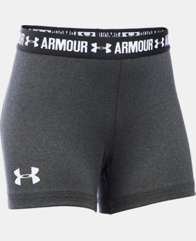 "Best Seller Girls' UA HeatGear® Armour 3"" Shorty LIMITED TIME: FREE SHIPPING 3 Colors $19.99"