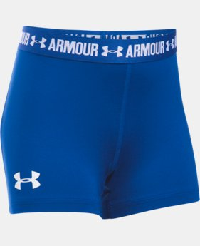 "Best Seller Girls' UA HeatGear® Armour 3"" Shorty LIMITED TIME: FREE SHIPPING 7 Colors $19.99"