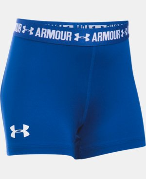"Girls' UA HeatGear® Armour 3"" Shorty LIMITED TIME: FREE U.S. SHIPPING 2 Colors $11.24 to $14.99"