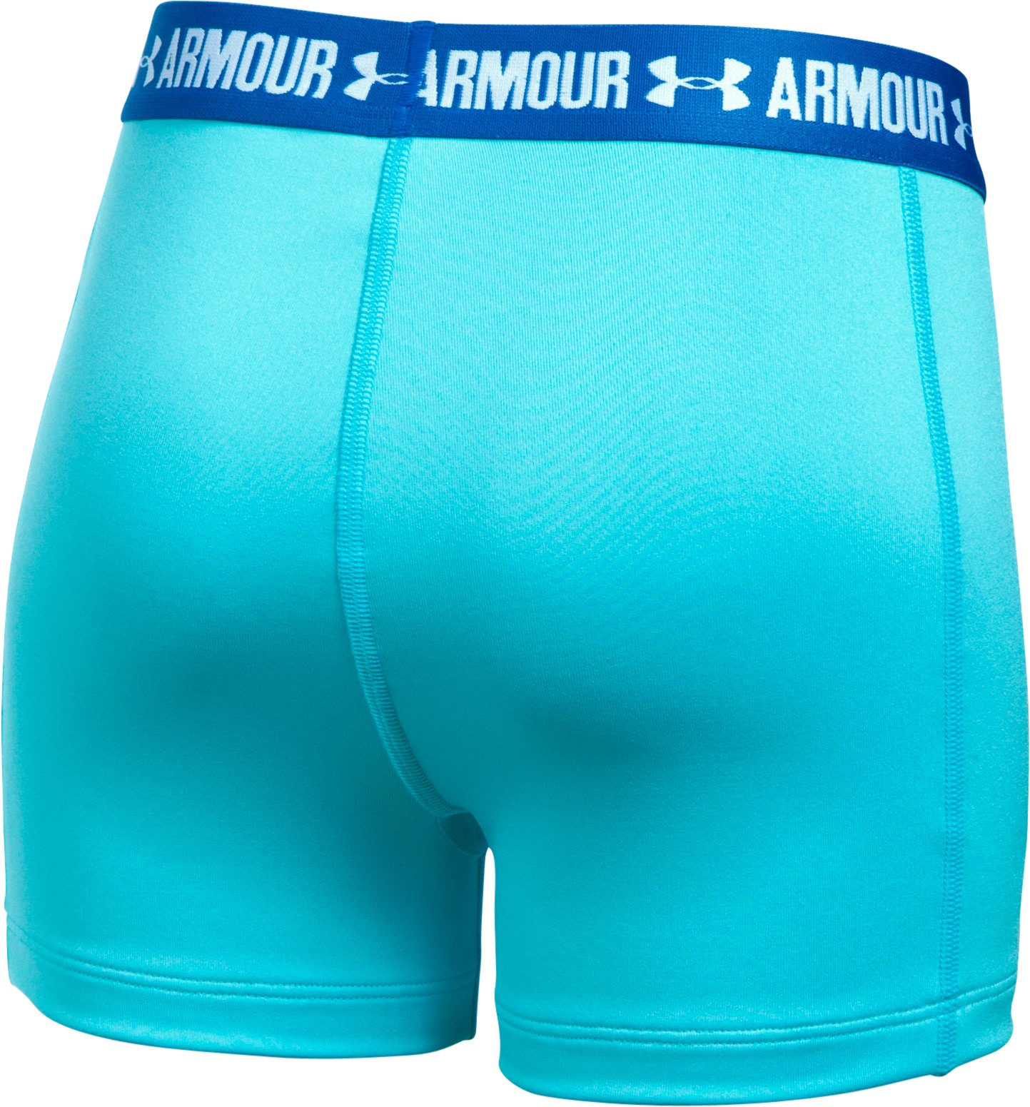 "Girls' UA HeatGear® Armour 3"" Shorty, Venetian Blue, undefined"