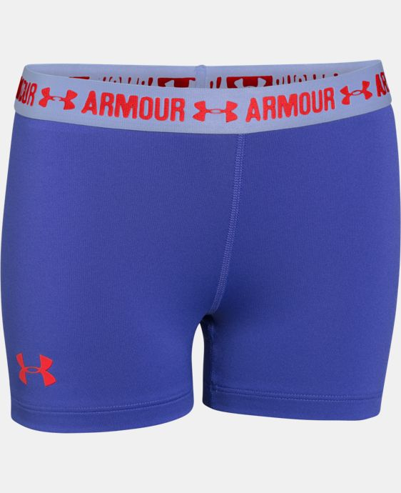 "New to Outlet Girls' UA HeatGear® Armour 3"" Shorty  3 Colors $14.99"