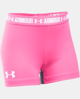 "Girls' UA HeatGear® Armour 3"" Shorty  3 Colors $22.99"