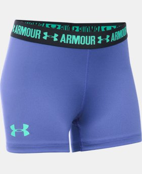 "Best Seller Girls' UA HeatGear® Armour 3"" Shorty LIMITED TIME: FREE SHIPPING  $19.99"