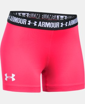 "Girls' UA HeatGear® Armour 3"" Shorty  1 Color $22.99"