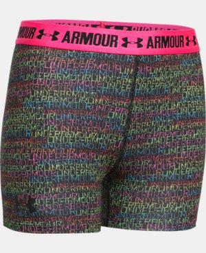 "Girls' UA HeatGear® Armour Printed 3"" Shorty  2 Colors $11.24 to $18.99"