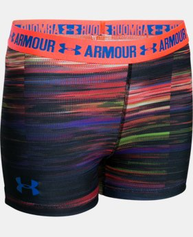 "Girls' UA HeatGear® Armour Printed 3"" Shorty   $11.24 to $18.99"