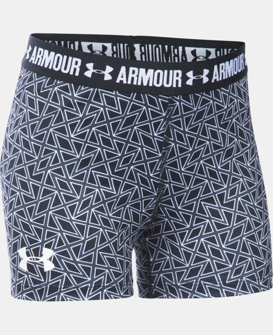 "Girls' UA HeatGear® Armour Printed 3"" Shorty  2 Colors $20.99 to $27.99"