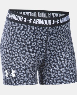 "Girls' UA HeatGear® Armour Printed 3"" Shorty LIMITED TIME: FREE U.S. SHIPPING 13 Colors $11.24 to $18.99"