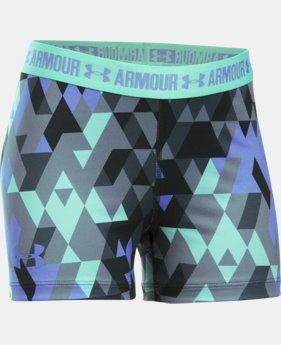 "Girls' UA HeatGear® Armour Printed 3"" Shorty LIMITED TIME: FREE U.S. SHIPPING 1 Color $24.99"