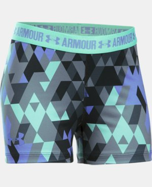 "Girls' UA HeatGear® Armour Printed 3"" Shorty LIMITED TIME: FREE U.S. SHIPPING  $24.99"