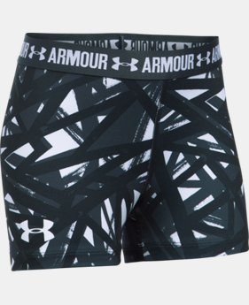 "Girls' UA HeatGear® Armour Printed 3"" Shorty  4 Colors $24.99"