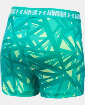 "Girls' UA HeatGear® Armour Printed 3"" Shorty  2 Colors $13.99 to $17.49"