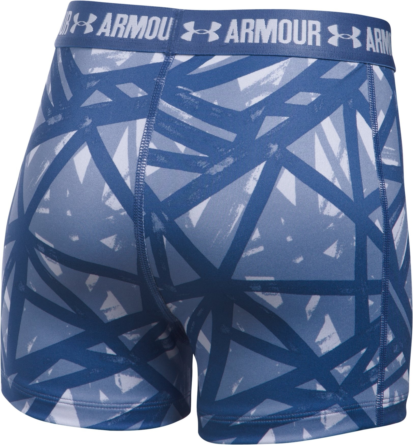 "Girls' UA HeatGear® Armour Printed 3"" Shorty, LAVENDER ICE,"