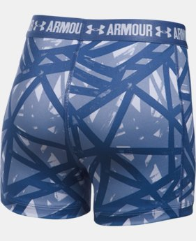 "Girls' UA HeatGear® Armour Printed 3"" Shorty  4 Colors $13.99 to $18.99"