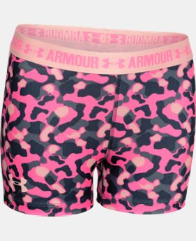 "Girls' UA HeatGear® Armour Printed 3"" Shorty  3 Colors $18.99"
