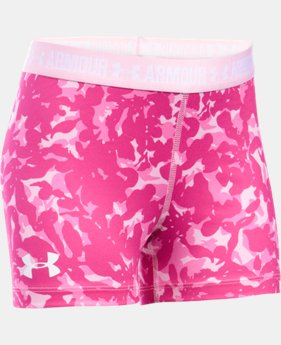 "Girls' UA HeatGear® Armour Printed 3"" Shorty   $16.99"