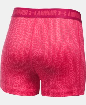 "Girls' UA HeatGear® Armour Printed 3"" Shorty  1 Color $13.99 to $18.99"