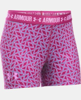 "Best Seller Girls' UA HeatGear® Armour Printed 3"" Shorty LIMITED TIME: FREE SHIPPING  $24.99"